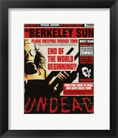 Undead - End of the world beginning Wall Poster
