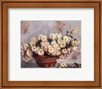 Basket of Chrysanthemums, c.1878 Fine Art Print