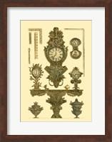 Antique Decorative Clock I Fine Art Print