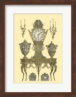 Antique Decorative Clock II Fine Art Print