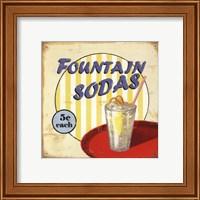 Fountain Sodas Fine Art Print