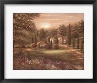 Evening in Tuscany II Fine Art Print
