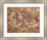 Map - Globe Terrestre Fine Art Print