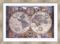 Map - Antique - New Map Of The World Fine Art Print
