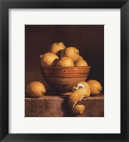 Lemons in a Bowl with Peel Fine Art Print