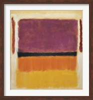 Untitled (Violet, Black, Orange, Yellow on White and Red), 1949 Fine Art Print