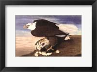 Bald Eagle W Goose Fine Art Print