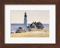 Lighthouse and Buildings, Portland Head, Cape Elizabeth, Maine, 1927 Fine Art Print