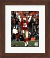 Joe Montana - celebrating touchdown Fine Art Print