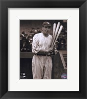 Babe Ruth - with 3 bats Fine Art Print