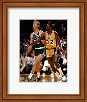 Larry Bird and Magic Johnson Fine Art Print