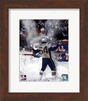 Tedy Bruschi - Snow Game 12/7/03 Fine Art Print
