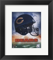 Chicago Bears Helmet Logo Fine Art Print