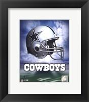 Dallas Cowboys Helmet Logo Fine Art Print