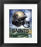 New Orleans Saints Helmet Logo Fine Art Print