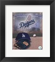 Los Angeles Dodgers - '05 Logo / Cap and Glove Fine Art Print