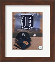 Detroit Tigers - '05 Logo / Cap and Glove Fine Art Print