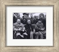 Winston Churchill, Franklin D. Roosevelt and Joseph Stalin at Yalta in 1945. (#6) Fine Art Print