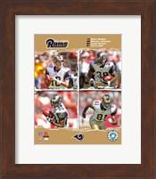 "2006 - Rams ""Big 4"" Fine Art Print"