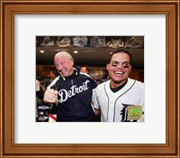 Al Kaline & Ivan Rodriguez - 2006 ALDS Game 4 Celebration Fine Art Print