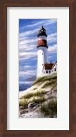Lighthouse On Cliff Fine Art Print