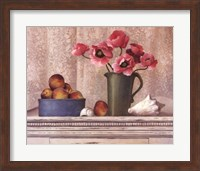 Poppies, Peaches And Shells Fine Art Print