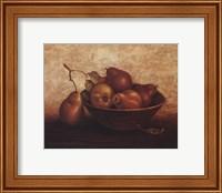 Pears In Bowl Fine Art Print
