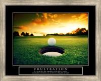 Frustration - Golf Ball Fine Art Print