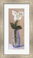 White Flower In Purple Vase Fine Art Print