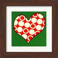 Red Circled Heart Fine Art Print