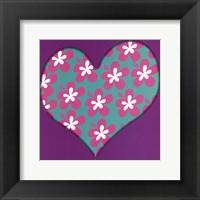 Pink Flowered Heart Fine Art Print