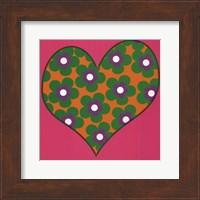 Green Flowered Heart Fine Art Print