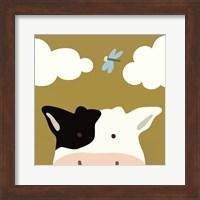 Peek-A-Boo III Cow Fine Art Print