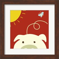 Peek-A-Boo IV Pig Fine Art Print