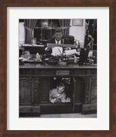 Jfk And John Jr, 1963 Fine Art Print