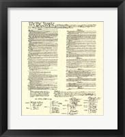 Constitution (Document) Fine Art Print