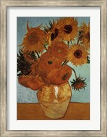 Sunflowers on Blue, c.1888 Fine Art Print