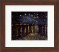 Starry Night over the Rhone, c.1888 Fine Art Print