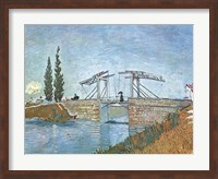 The Langlois Drawbridge at Arles, c.1888 Fine Art Print
