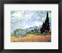Field of Wheat with Cypresses, c.1889 Fine Art Print