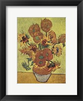 Vase with Fifteen Sunflowers, c.1888 Fine Art Print