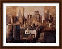 Manhattan & Black Structures Fine Art Print