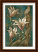 Tulips on Teal Fine Art Print