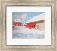 Les maisons rouges a Bjoernegaard, Norvege, 1895 Fine Art Print