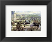 View of Tuileries Gardens Fine Art Print