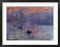 Impression, Sunrise, c.1872 (blue) Fine Art Print