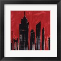 Red Cityscape Fine Art Print