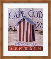 Cape Cod Cabana Fine Art Print