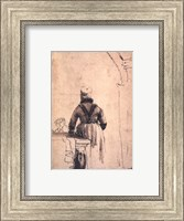 A Woman in North Holland Costume Seen from Behind, c. 1638 Fine Art Print