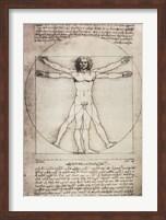 Vitruvian Man, 1492 Fine Art Print